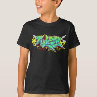 The name Tyler in graffiti-Kid's Hip-Hop T-Shirt B