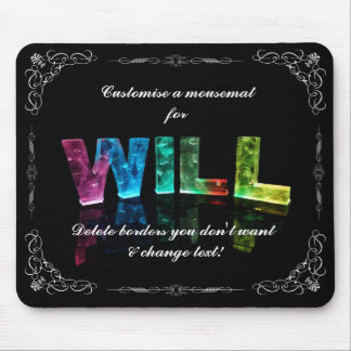 The Name Will -  Name in Lights (Photograph) Mouse Pad