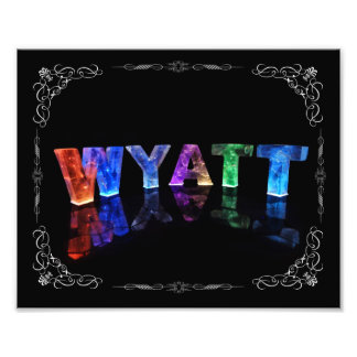 The Name Wyatt -  Name in Lights (Photograph) Photographic Print