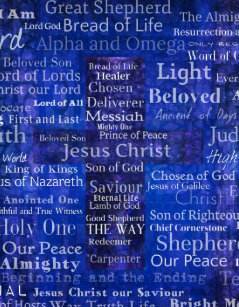 The Names Of Jesus Christ Blue Cross Art Jigsaw Puzzle
