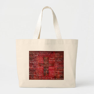 The Names of Jesus Christ From the Bible Large Tote Bag