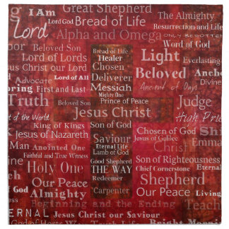 The Names of Jesus Christ From the Bible Napkin