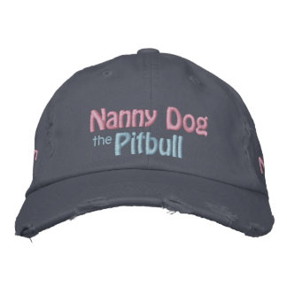 The Nanny Dog, American Pit Bull Terrier, APBT Embroidered Hat
