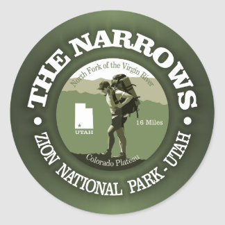 The Narrows Classic Round Sticker