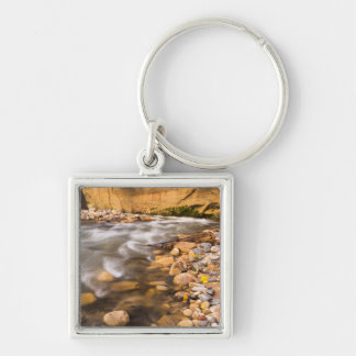 The Narrows Of The Virgin River In Autumn 4 Silver-Colored Square Key Ring