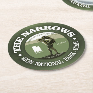 The Narrows Round Paper Coaster