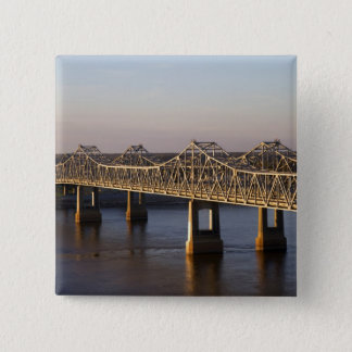 The Natchez-Vidalia Bridges spanning the 15 Cm Square Badge