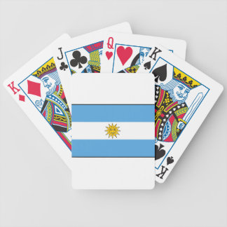 The national flag of Argentina Bicycle Playing Cards