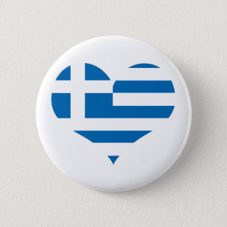 The National flag of Greece 6 Cm Round Badge