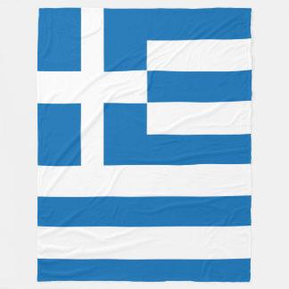 The National flag of Greece Fleece Blanket