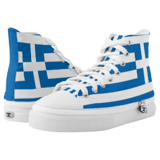 The National flag of Greece High Tops