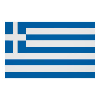 The National flag of Greece Poster