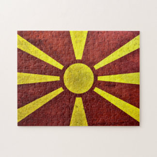 The national flag of the Republic of Macedonia Jigsaw Puzzle