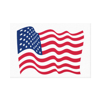 The national flag of the United States of America Canvas Print