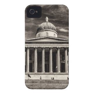 The National Gallery London with steps - BW iPhone 4 Case-Mate Cases