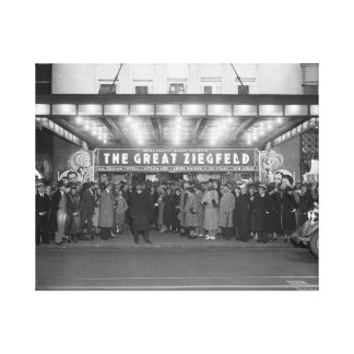 The National Theater 1936 Stretched Canvas Prints