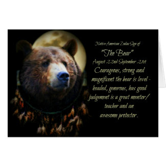 The Native American Zodiac Sign of the Bear (virgo Card