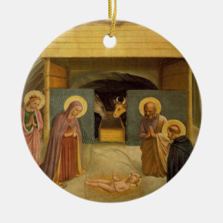 The Nativity by Fra Angelico Religious Fine Art Christmas Ornament