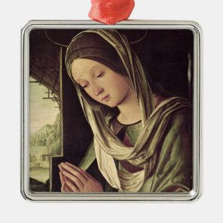 The Nativity, c.1490 Silver-Colored Square Decoration