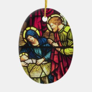 The Nativity Ceramic Oval Decoration