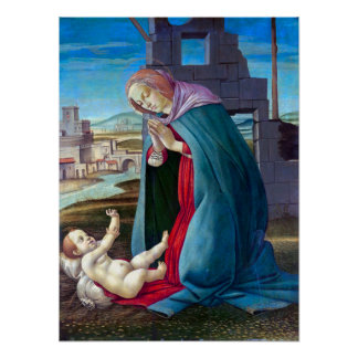 The Nativity from the Workshop of Botticelli Poster