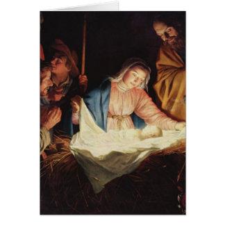 The Nativity of Jesus - Gerard van Honthorst Card