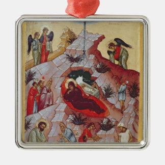 The Nativity, Russian icon, 16th century Metal Ornament