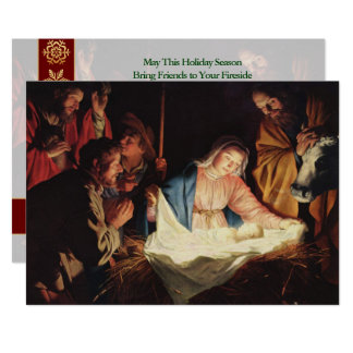 The Nativity Vintage Fine Art Christmas Card