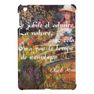 The nature in Monet's art. iPad Mini Cases
