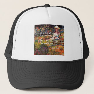 The nature in Monet's art. Trucker Hat