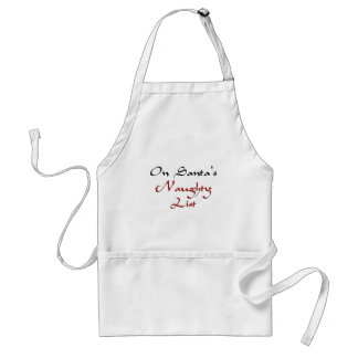 The Naughty List Aprons