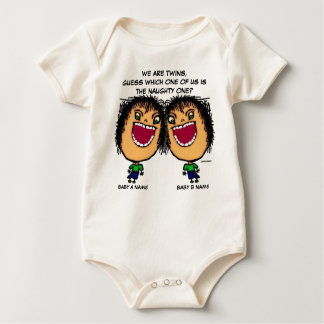 The Naughty Twin Baby Bodysuit