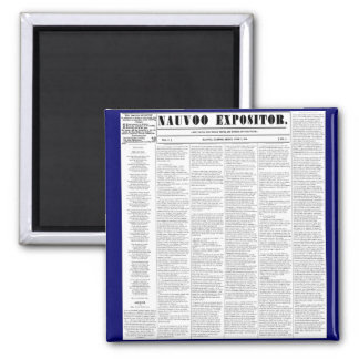 The Nauvoo Expositor Square Magnet