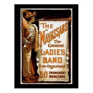"""The Navassars"" Vintage Vaudeville Postcard"