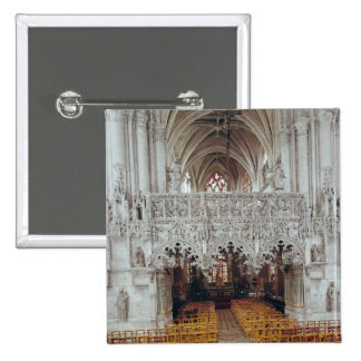 The Nave and Interior of Eglise 15 Cm Square Badge