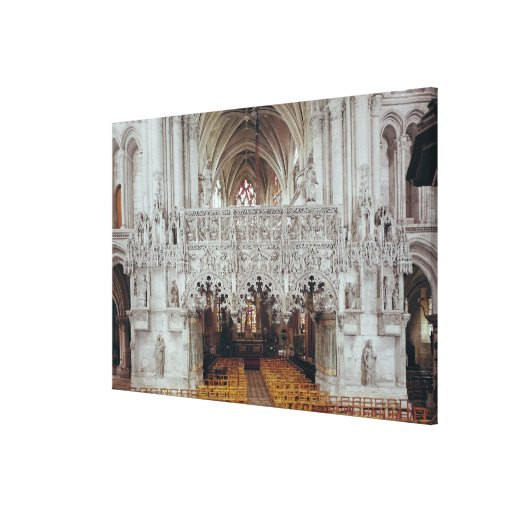 The Nave and Interior of Eglise Canvas Prints