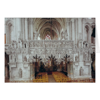 The Nave and Interior of Eglise Greeting Card