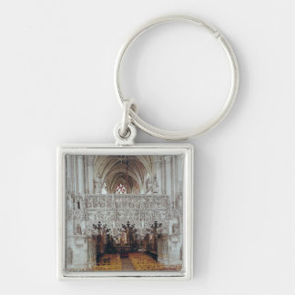 The Nave and Interior of Eglise Keychain