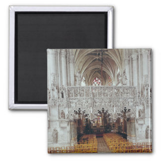 The Nave and Interior of Eglise Fridge Magnet