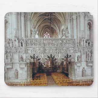 The Nave and Interior of Eglise Mouse Pad