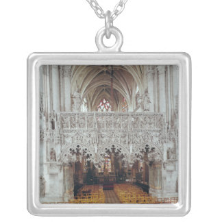 The Nave and Interior of Eglise Silver Plated Necklace