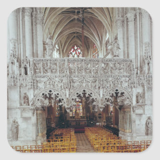 The Nave and Interior of Eglise Square Sticker