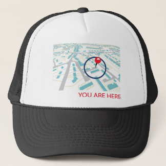 THE NAVIGATOR  - YOU ARE HERE TRUCKER HAT