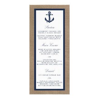 The Navy Anchor On Burlap Beach Wedding Collection Rack Card Template