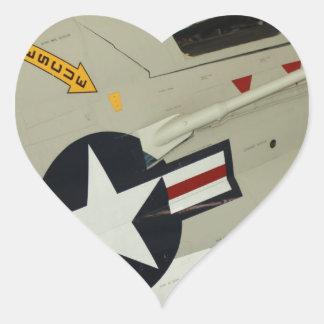 The Navy Heart Sticker
