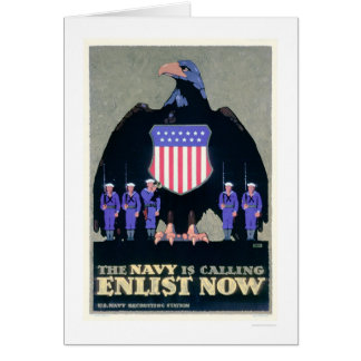 The Navy is Calling - Enlist Now (US02291A) Card