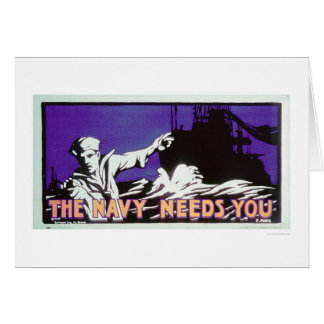 The Navy Needs You (US02163) Greeting Card