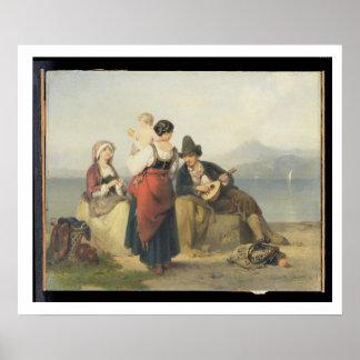 The Neapolitan Family, 1865 (oil on panel) Poster