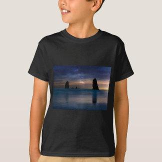 The Needles Rocks Under Starry Night Sky T-Shirt