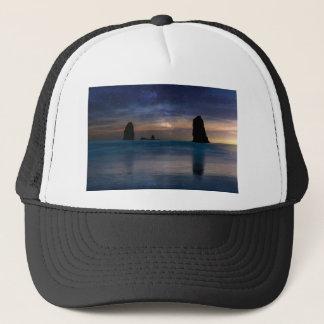 The Needles Rocks Under Starry Night Sky Trucker Hat